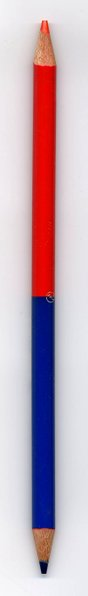 Red and blue pencil