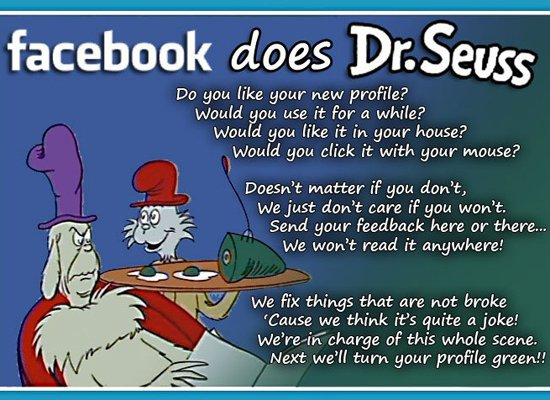 Dr. Seuss on Facebook Updates