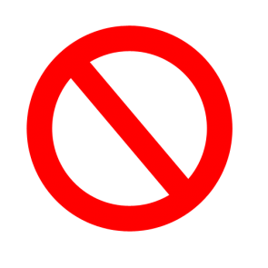Banned Sign