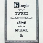 Google Before You Tweet