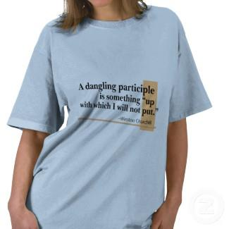 Dangling Participle t-shirt