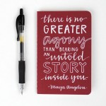Mini Journal Maya Angelou Quote