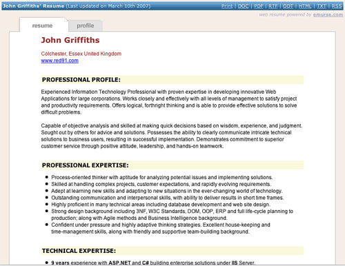 Functional Resume  Freelance Writer Resume