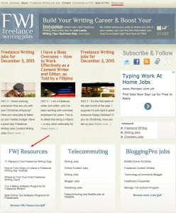 Introducing the FWJ Resources Area