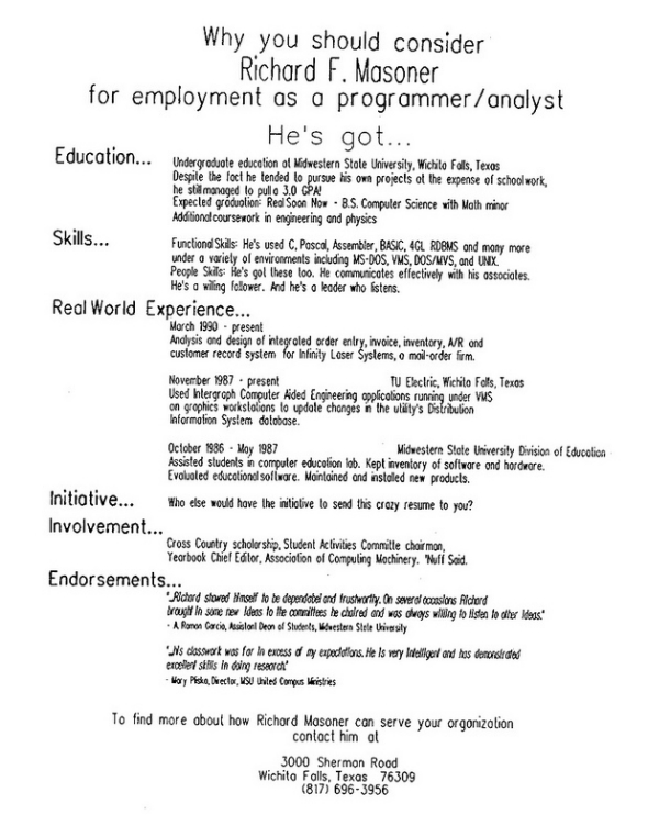 Resume Richard  Tips For Writing A Resume