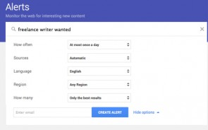 How to Use Google Alerts to Help you Find Freelance Writing Gigs