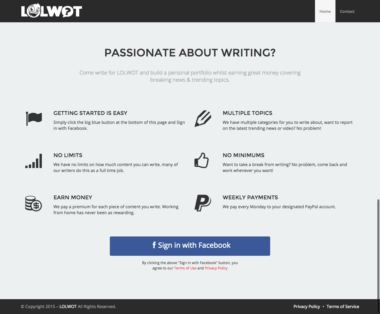 lolwot writing platform