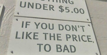 funny signs with grammar mistakes