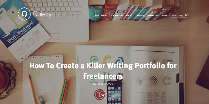 Create a Writing portfolio