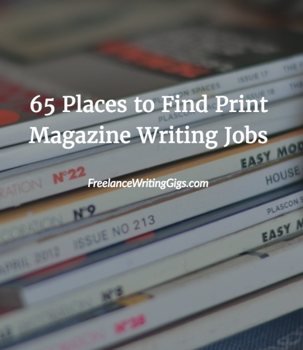 freelance magazine writing jobs