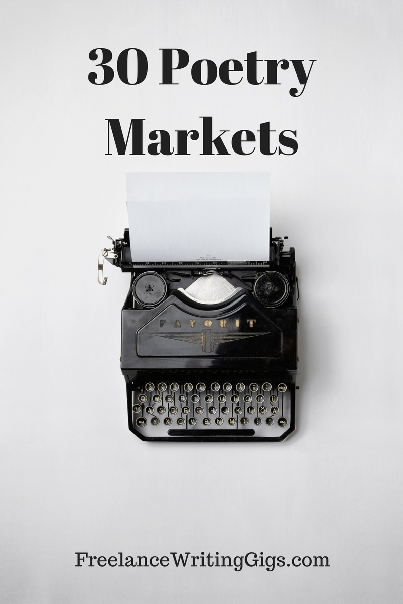 30 Poetry Markets That Pay