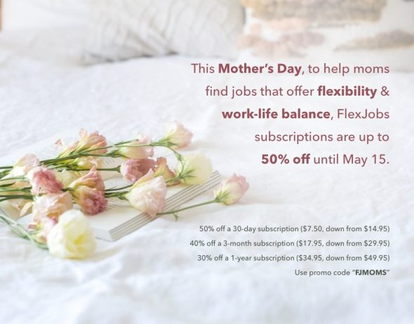 flexjobs mother's day sale